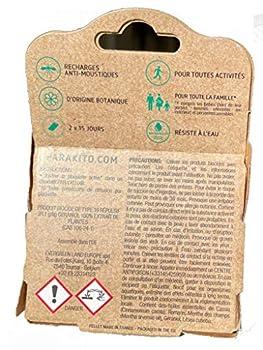 Parakito - PROTECTION ANTIMOUSTIQUE NATURELLE - Recharges Para'kito Pour BRACELET et CLIP - Lot de 3 x 2