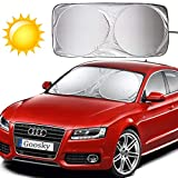 Goosky Car Windshield Sunshade, Car Front Windshield Sun Shade Foldable Windscreen Sunshad Blocks