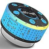 Motast Cassa Bluetooth 5.0 Senza Fili TWS, Doccia Casse Portatili IP7 con Forti Ventose, Microfono Incorporato, Luce per Feste, Bassi e Suono HD, Altoparlante Perfetto per Spiaggia, Piscina, Bagno