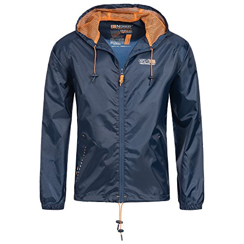 Geographical Norway 84G1 Nijak Herren Regen Jacke Navy M