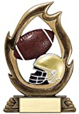 Decade Awards Football Flame Series Trophy - Gridiron Award - 7.25 Inch Tall - Engraved Plate on Request
