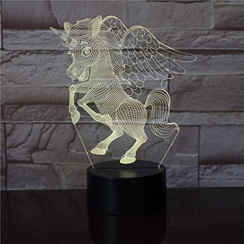 3D Illusion Light Led Night Light Animal The Unicorn Beautiful Decoration for Office Touch Sensor Children's BirthdayGifts