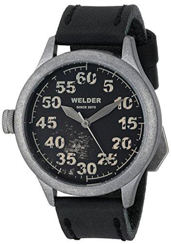 Welder - Orologio da polso, analogico al quarzo, pelle, Unisex
