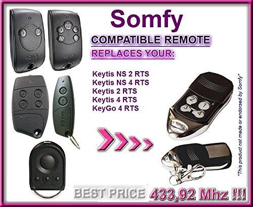 Somfy Keytis NS 2RTS, Somfy Keytis 4NS RTS 4-canale Kompatible Fernbedienung 433,92MHz, rolling code keyfob