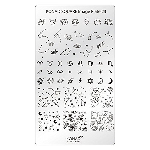 Original KONAD Square 23 Stamping Schablone - SQUARE No. 23 Image Stamping Plate Sternzeichen Astronomie