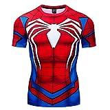 COJETER Classic Maglietta Girocollo Manica Corta Camicia Rossa Super Heroes T-Shirt Fitness da Uomo