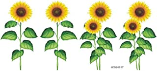 BinaryABC Sunflower Wall Decal Stickers Removable,DIY Wall Art Decor Nursery Floral Stickers for Kids Baby Living Room