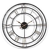 YAHAMA Reloj Pared XXL Vintage Reloj Pared Grande XXL Metal Reloj Pared Grande Vintage 60 cm