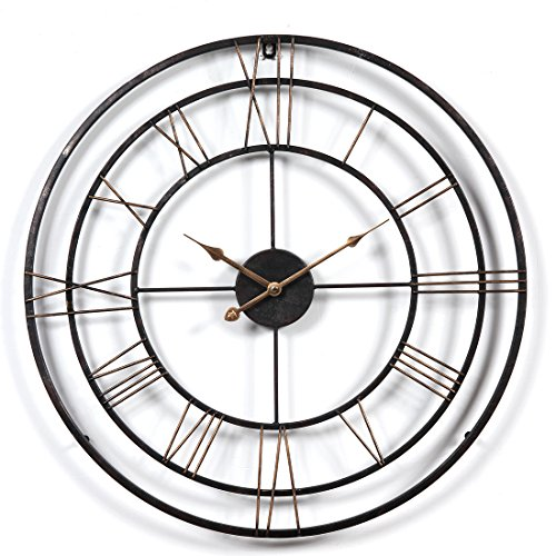 YAHAMA Reloj Pared XXL Vintage Reloj Pared Grande XXL Metal Reloj Pared...