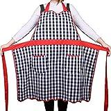 Delantal de cocina con dos bolsillos, tamaño pequeño a grande, 100 % algodón, diseño de patata, ideal como regalo para mujer o mujer