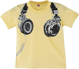 14f47cf5633 Lurryly 2018 Toddler Kids Baby Boys Summer Casual Headphone Short Sleeve  Tops Blouses T-Shirt
