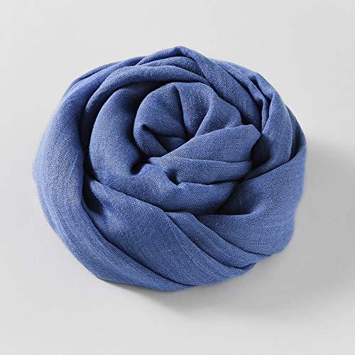 HCA Algodón de color sólido y hembra de honejilla bufanda literaria de seda literar la playa de la playa de la playa de la playa de la playa y la bufanda del otoño-39_100 * 180cm