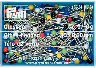 Prym–Alfileres con Cabeza de Cristal, Multicolor