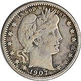 1907 O Barber Quarter F