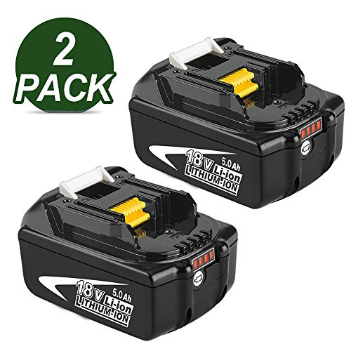 2X BL1850B 18V 5.0Ah Reemplazo de Batería de para Makita 18v Batería BL1850 BL1860B BL1860 BL1840 BL1835 BL1830 BL1815 LXT-400 con indicador