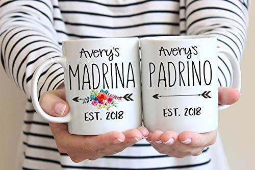 Eli231Abe Madrina Taza Regalo para Madrina Madrino Taza Regalo para Padrinos Españoles Regalo para Padrinos La Madrina Regalo Regalo de Godchild a Madrina Madrina