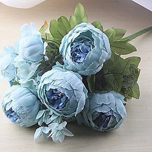 Künstliche Blumen Unechte Blumen Blumenarrangements Dekoration Braut Hotel Gartendiy Seide 1 Zweig Klassisch Blumes Pfingstrosen Tischplatte Blume Burg&