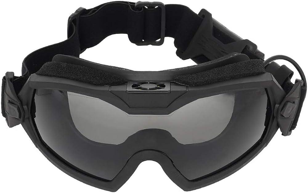 FOJMAI Táctica versión ventilador refrigerador airsoft regulador gafas esquí bicicleta deportes