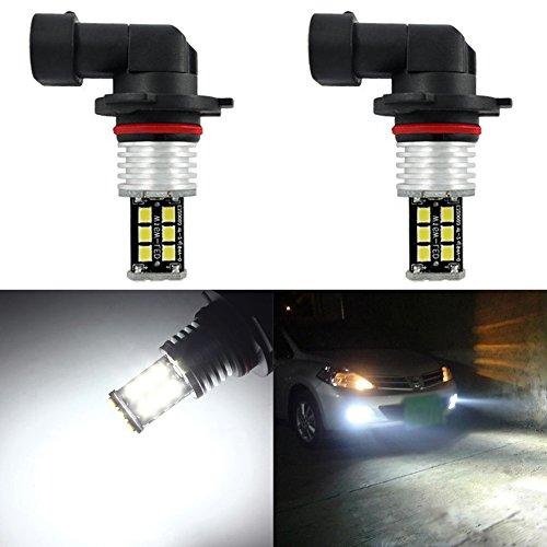 Taben Lot de 2 ampoules LED ultra-lumineuses avec puces 2835 Canbus sans erreur, 12–24 V, pour feux de circulation diurnes, lumière blanche