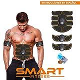 【ÚLTIMA VERSIÓN 2020】 Smart Fitness Electroestimulador Muscular Abdominal, Tonificador Abdomen, Electroestimulacion Abdominales, Estimulador Completo, Six Pack