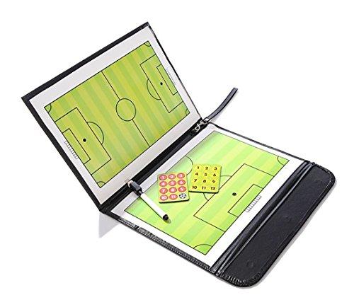 Tabla táctica para entrenadores de futbol, de Odowalker; cubierta PU con marcadores y bolígrafo borrable