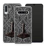 Handyhülle Thor Walhalla für Samsung Silikon MMM Berlin Hülle Odin Valhalla Viking Gothic Freya, Kompatibel mit Handy:Samsung Galaxy A72, Hüllendesign:Design 3 | Silikon Klar