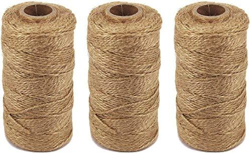 TIAMALL 300 Feet Natural Jute Twine Gift Twine String Packing String (3 Pcs)