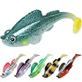 TRUSCEND Fishing Lures for Bass Trout Jighead Lures Paddle Tail Swimbaits Soft Fishing Baits Freshwater Saltwater Jigging Bass Fishing Lures