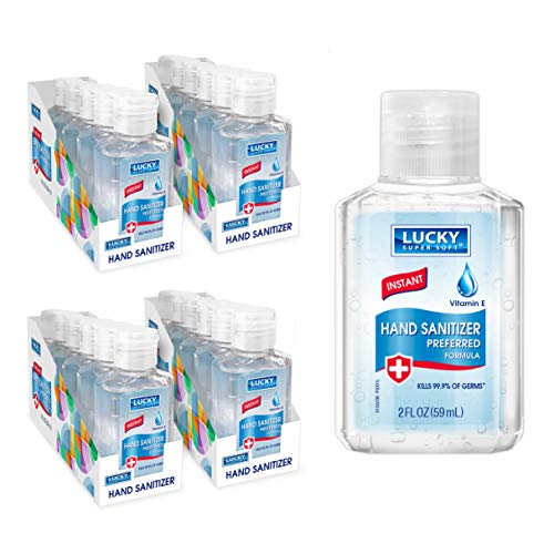 Lucky Hand Sanitizer Gel - Clean Hands with High Alcohol Hand Sanitizer - Moisturizer for Soft Hands & Gentle Skin - Travel Size - (2oz Classic) 24 Total Bottles