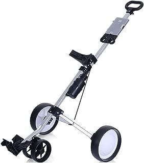 Golf Trolley Push Pull Cart Foot Ultra Compac Lightweight Cruiser Button Easy Fold