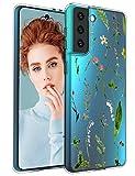 Kompatibel mit Samsung Galaxy S21 5G Hülle Blumen Design