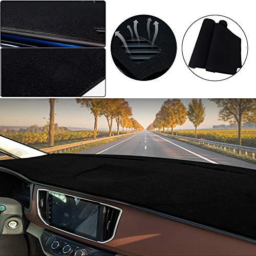 Muchkey Car Dashboard Dash Board Cover Mat Fit for Honda HR-V 2016-2020 Trim: Base, EX, LX,Dashboard Protector,Easy Installation,Black