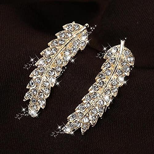 DOOLY 1PC Fashion Crystal Zircone Clip Ear Cuff Punk Wrap Cartilagine Orecchini Gioielli Snowflake Clip su Orecchini Strass