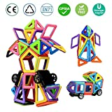 infinitoo Magnetic Building Blocks 76pcs Construction Blocks | Great learning toy for children from 3 years | Perfect for use at home in daycare etc (Blue)
