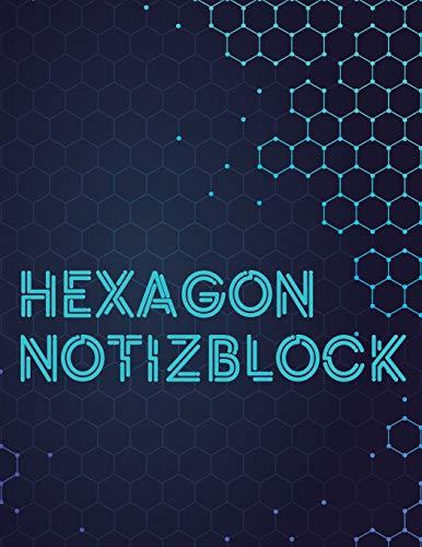 Hexagon Notizblock: 108 Seiten | Hexagon Raster