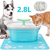 BAYKA Cat Water Fountain, 95oz/2.8L Automatic Pet Water Fountain | Dog Water Dispenser with 3 Replacement Filters & 1 Silicone Mat for Cats/Small to Medium Dogs - Amazon Vine