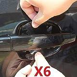 LEON-FOLIEN Set di 6 pellicole protettive per vernice per auto, maniglie delle porte, mani...