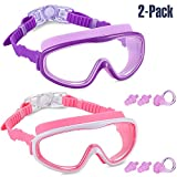 Yizerel 2 Pack Kids Swim Goggles, Swimming Glasses for Children and Early Teens