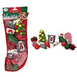 Cat Christmas Stocking with Toys - 14 Toys