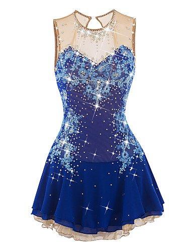 SISHUINIANHUA Blau Eiskunstlauf Kleid Eislauf-Rock Spandex Frauen-Mädchen,165