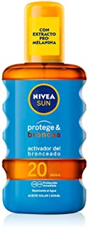 Nivea Sun Protect And Bronze Tan Activating Protecting Oil Spf20 200ml