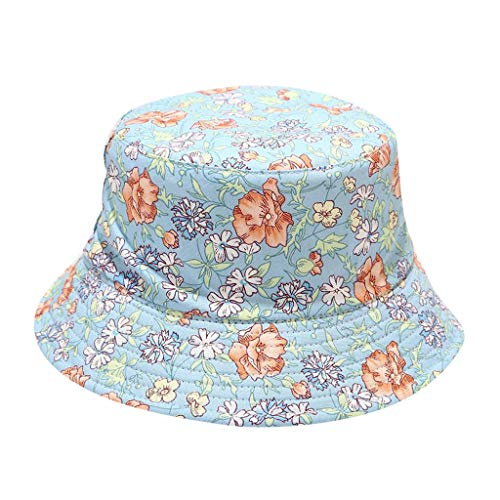 URIBAKY Fisherman Hat Hat Unisex Hombres Mujeres Floral Sun Hat Outing Two-Sided Bucket Caps