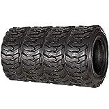 VANACC 12-16.5 Skid Steer Tires Heavy Duty 12PR, Industrial Bias Tire 12x16.5, Set of 4