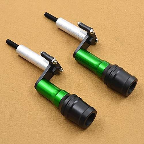 CHENWEI- Tubo di Scarico del Sistema Sliders Paratelaio Motore di Protezione Protezione della Copertura di Caduta di Protezione for Kawasaki Ninja 400 250 Z400 (Color : Green)