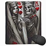 King-Queen-Ace of Spades Mouse Mat Cute Mouse Pad Rubber Base Mousepad with Stitched Edge Waterproof Office Mouse Pad 7X8.6 Inch