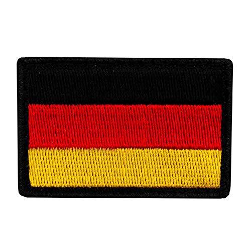 Café Viereck ® B&eswehr Deutschland Flaggen Patch Gestickt mit Klett - 6 cm x 4 cm