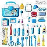 DigHealth 32 Pièces Jouet Medical,Malette Valise Docteur Enfant Jouet,Accessoire Docteur,Trousse Panoplie Docteur Enfant...