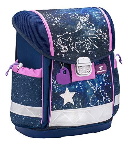 Belmil Ergonomischer Schulranzen Mädchen 1. klasse 2. klasse 3. klasse - Super Leicht 900-960 g/Grundschule/Sternbild Sterne Stars/blau rosa (403-13 Flying to The Stars)