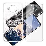 HHUAN Coque + Verre trempé pour Nokia 8 V 5G UW (6.81pouces), 9H Dureté écran Film Protecteur et...