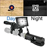 JASHKE DIY Digital Night Vision Scope for Rifle Hunting with HD Camera and 5-inch Portable Display Screen